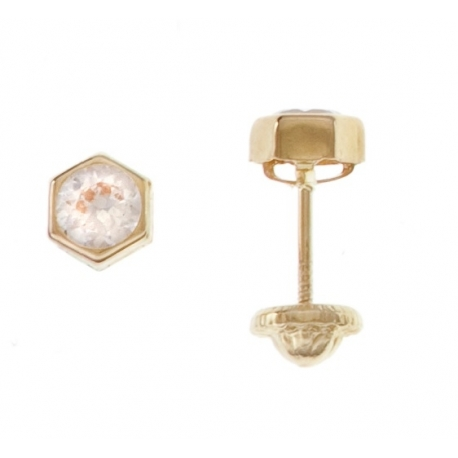 Aretes hexagono circon 3mm
